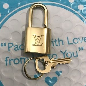 Authentic Louis Vuitton lock and key 322